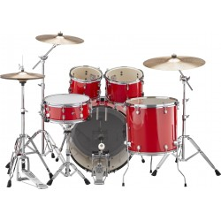 "Yamaha Rydeen Kit 22"" Hot Red + Platos Paiste"