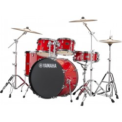 """Yamaha Rydeen Kit 22"""" Hot Red + Platos Paiste"""