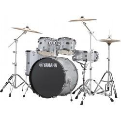 """Yamaha Rydeen Kit 20"""" Silver Glitter + Platos Paiste"""