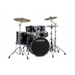 "Yamaha Stage Custom Birch Kit 22"" Raven Black + Herrajes HW780"