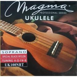 Cuerdas Magma Ukelele Soprano UK100NBT black nylon