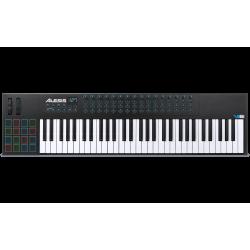 ALESIS Controlador VI61 USB MIDI de 61 Teclas y 16 Pads