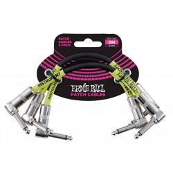 ERNIEBALL CABLE INTERLINK JACK-JACK AA Negro  15,24m (PACK de 3)