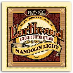 ERNIEBALL Juego de cuerdas Mandolina Earthwood Bronze Light 9-34