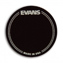 EVANS PAD IMPACTO PARA BOMBO SIMPLE EQ PATCH Negro