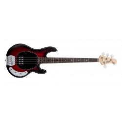 BAJO ELECTRICO RAY4 SUB SERIES RED RUBY BURST SATIN