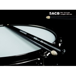 WINCENT STICKS 5ACB HICKORY-BLACK FINISH