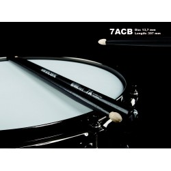 WINCENT STICKS 7ACB HICKORY-BLACK FINISH