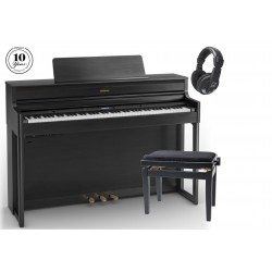 Pack Roland HP-704 bk Negro + Banqueta + Auricular