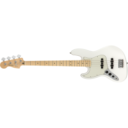 Fender Player Jazz Bass® Left-Handed, Maple Fingerboard, Polar White
