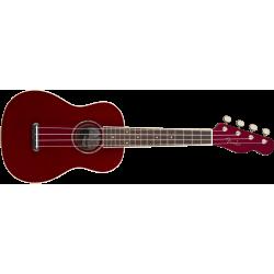 Ukelele Fender Zuma Classic Concert, Walnut Fingerboard, Candy Apple Red