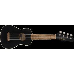 Fender Venice Soprano Uke, Walnut Fingerboard, Black