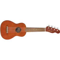 Fender Venice Soprano Uke, Walnut Fingerboard, Natural