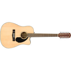 Fender CD-60SCE Dreadnought 12-string, Walnut Fingerboard, Natural