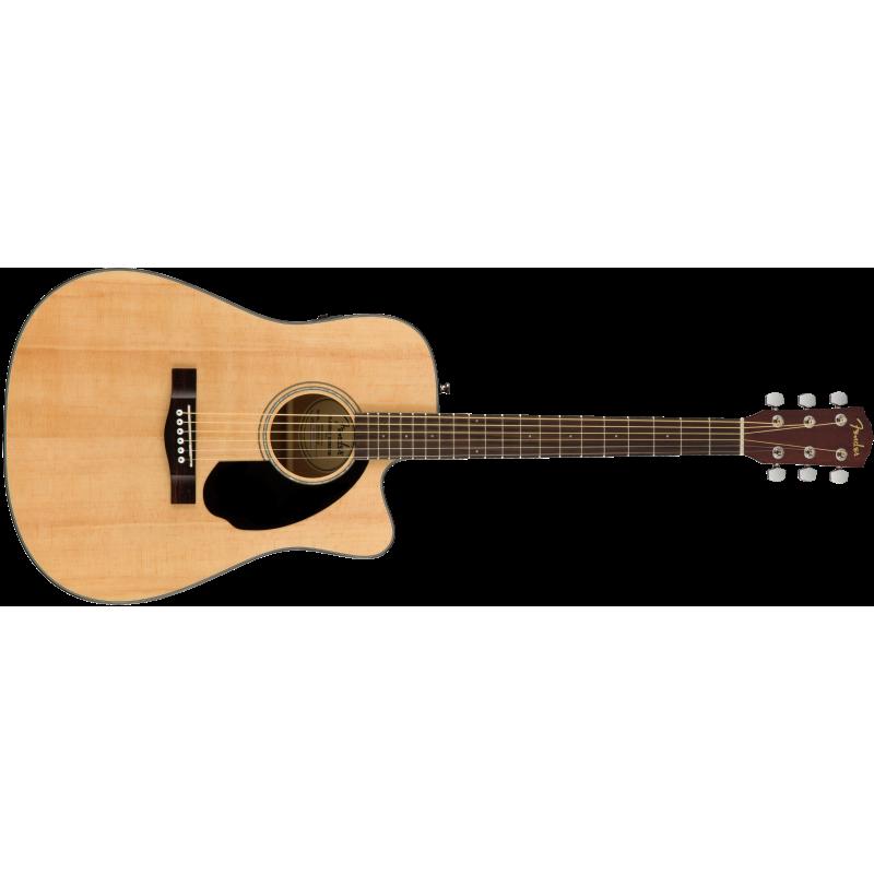 Fender CD-60SCE Dreadnought, Walnut Fingerboard, Natural