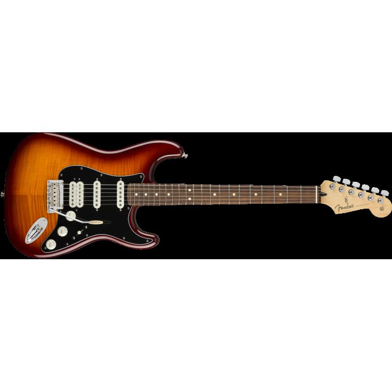Fender Player Stratocaster® HSS Plus Top, Pau Ferro Fingerboard, Tobacco Sunburst