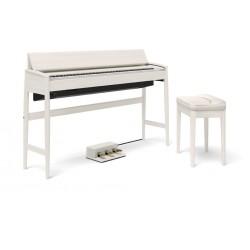 Roland Kiyola KF-10 Sheer White + Banqueta