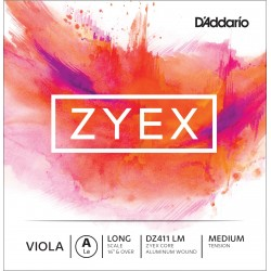 DADDARIO DZ411 ZYEX - LA CUERDA SUELTA VIOLA A MEDIUM LIGHT