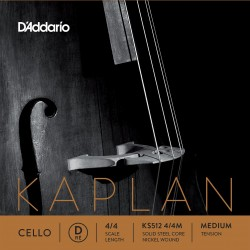 DADDARIO KS512 KAPLAN SOLUTIONS - RE CUERDA SUELTA CELLO 4/4 RE