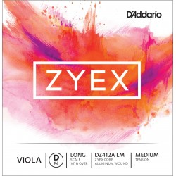 DADDARIO DZ412A ZYEX - RE CUERDA SUELTA VIOLA D LIGHT MEDIUM