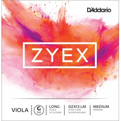 DADDARIO DZ413 ZYEX - SOL CUERDA SUELTA VIOLA G MEDIUM LIGHT