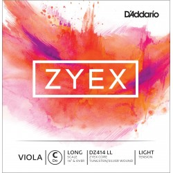 DADDARIO DZ414 ZYEX DO CUERDA SUELTA VIOLA D LIGHT