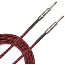 PLANETWAVES BRAIDED CABLE RED 3M CABLE FORRADO Braided Red 3m