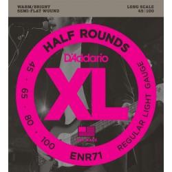 DADDARIO ENR71 XL HALF ROUNDS REGULAR LIGHT [45-100] JUEGO BAJO