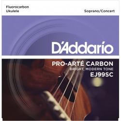 DADDARIO EJ99SC CARBON , SOPRANO / CONCIERTO JUEGO UKELELE