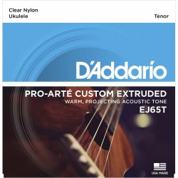 DADDARIO EJ65T CUSTOM EXTRUDED NYLON , TENOR JUEGO UKELELE