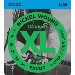 DADDARIO EXL130 - XL EXTRA SUPER LIGHT [08-38] JUEGO ELECTRICA