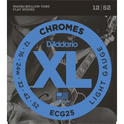 DADDARIO ECG25 - CHROMES LIGHT [12-52] JUEGO ELECTRICA