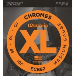 DADDARIO ECB82 CHROMES BASS, MEDIUM, LONG SCALE [50-105] JUEGO BAJO