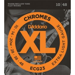DADDARIO ECG23 - CHROMES EXTRA LIGHT [10-48] JUEGO ELECTRICA