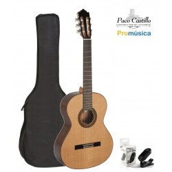 Pack Guitarra Clásica Paco Castillo 202 + Funda + Afinador