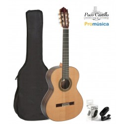 Pack Guitarra Clásica Paco Castillo 204 + Funda + Afinador