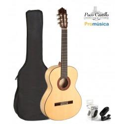 Pack Guitarra Flamenca Paco Castillo 213F + Funda + Afinador
