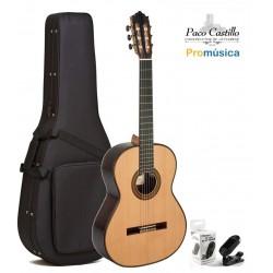 Pack Guitarra Clásica Paco Castillo 205 + Estuche Foam + Afinador