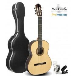Pack Guitarra Flamenca Paco Castillo 215FR + Estuche Abs + Afinador