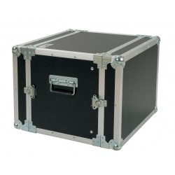 "PROEL FLIGHT CASE PARA EQUIPO 19""MALETA RACK CR108BLKM 8U 33CM"