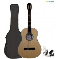 Pack Memphis FT951N Guitarra Clásica Natural