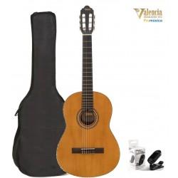 Pack Valencia VC204 Guitarra Clásica Antique Natural