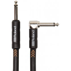 ROLAND Cable Instrumento Serie Black 3 metros Acodado