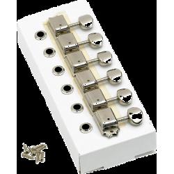 Fender American Vintage Stratocaster®/Telecaster® Tuning Machines, Left-Handed (Nickel) (6)