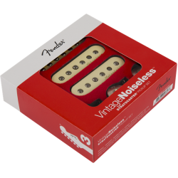 Fender Vintage Noiseless™ Strat® Pickups, (3), Aged White