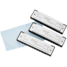 Fender Blues Deluxe Harmonica, Pack of 3, with Case