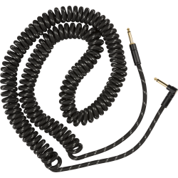 Fender Deluxe Coil Cable, 30', Black Tweed