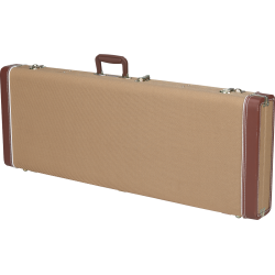 Fender G&G Deluxe Jazz Bass® Hardshell Case, Tweed with Red Poodle Plush Interior