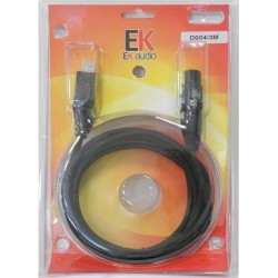 EK AUDIO D004 CABLE USB-XLR 3 METROS