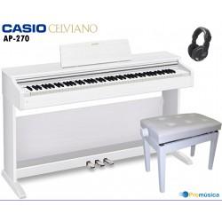 Pack CASIO CELVIANO AP-270 WE Blanco